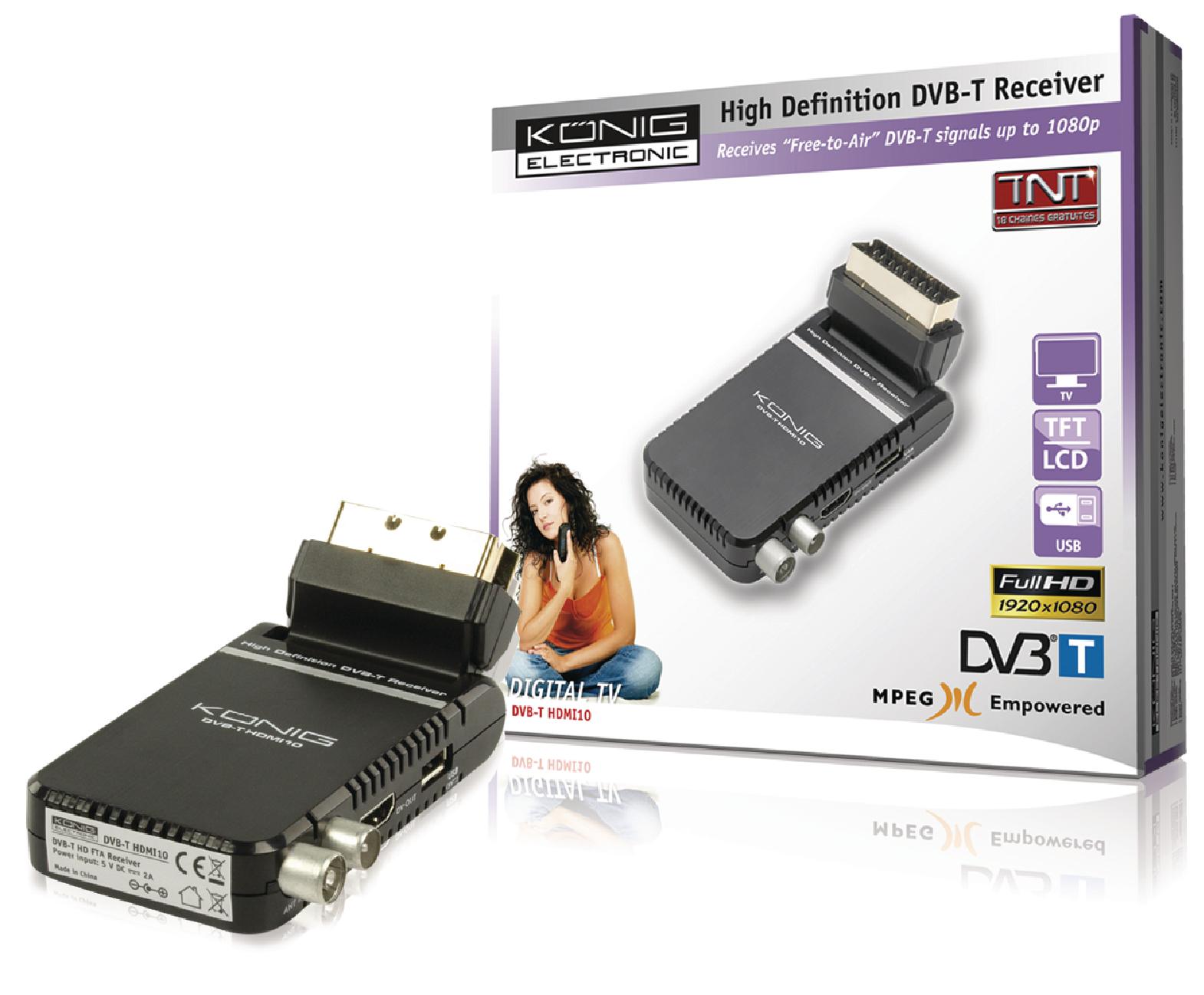 dvb t hdmi10 k nig high definition dvb t receiver electronic. Black Bedroom Furniture Sets. Home Design Ideas