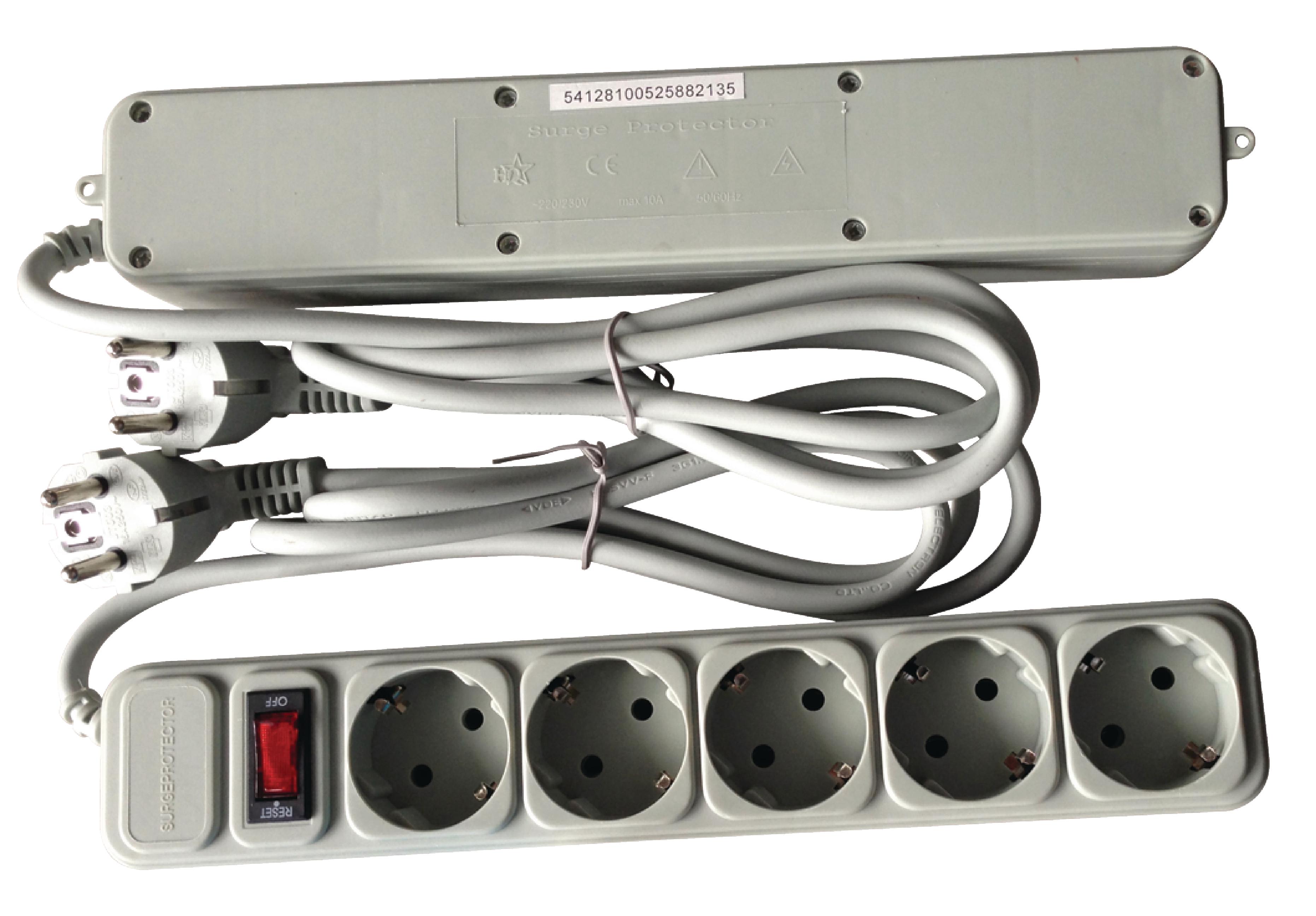 Steckdosenleiste-5fach-45-mit-Schalter-und-Uberspannungsschutz-EL-TCD05PW