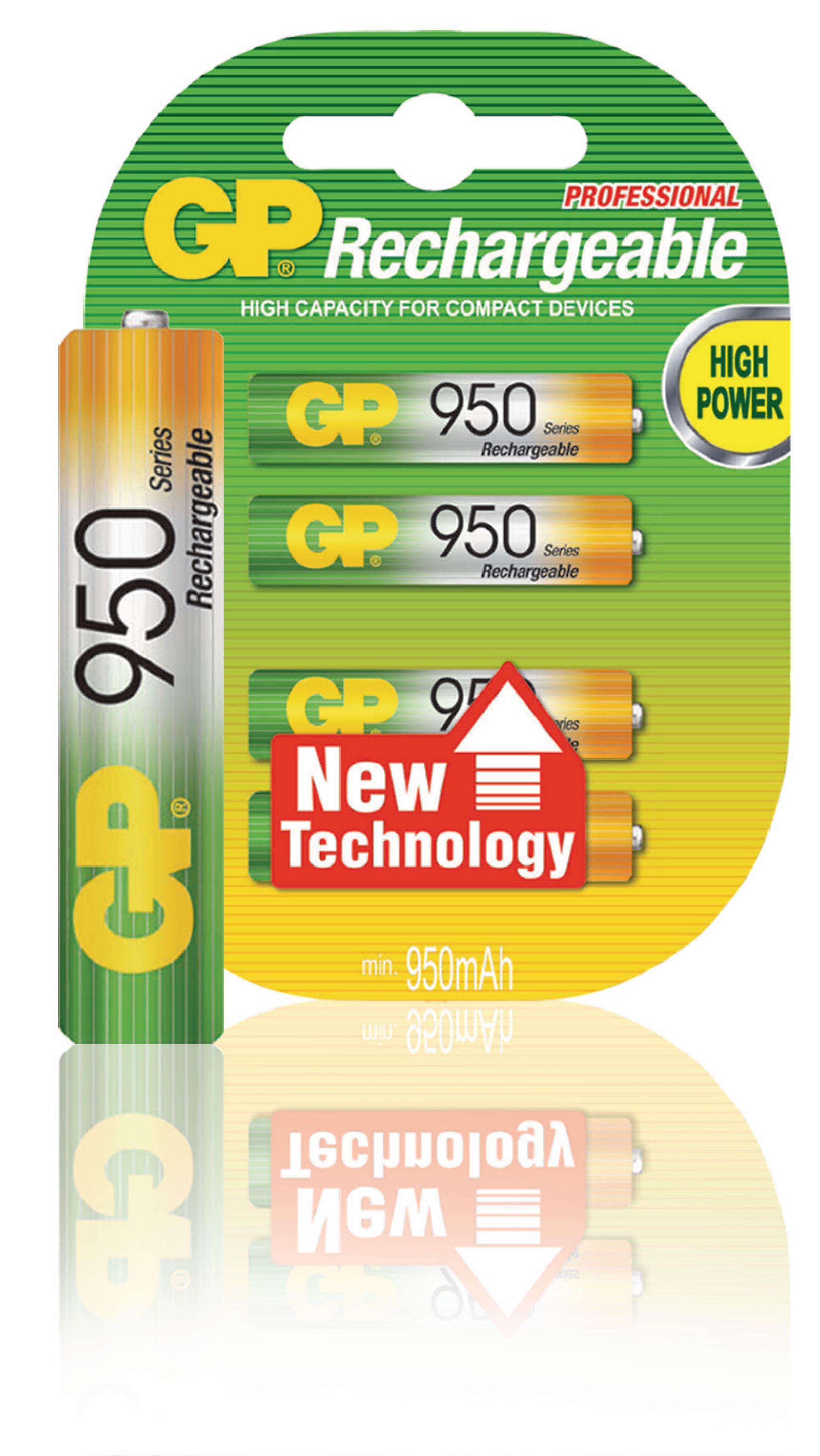 gp nimh aaa 02 gp rechargeable nimh battery aaa 1 2 v 950 mah 4 blister electronic. Black Bedroom Furniture Sets. Home Design Ideas