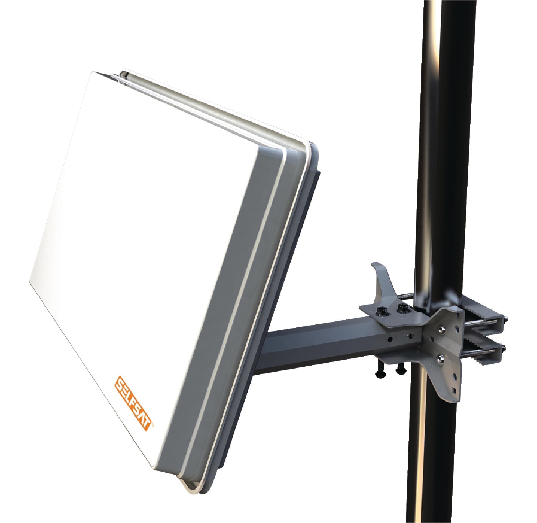 h30d - selfsat - h30d antenne parabolique plate single lnb blanc