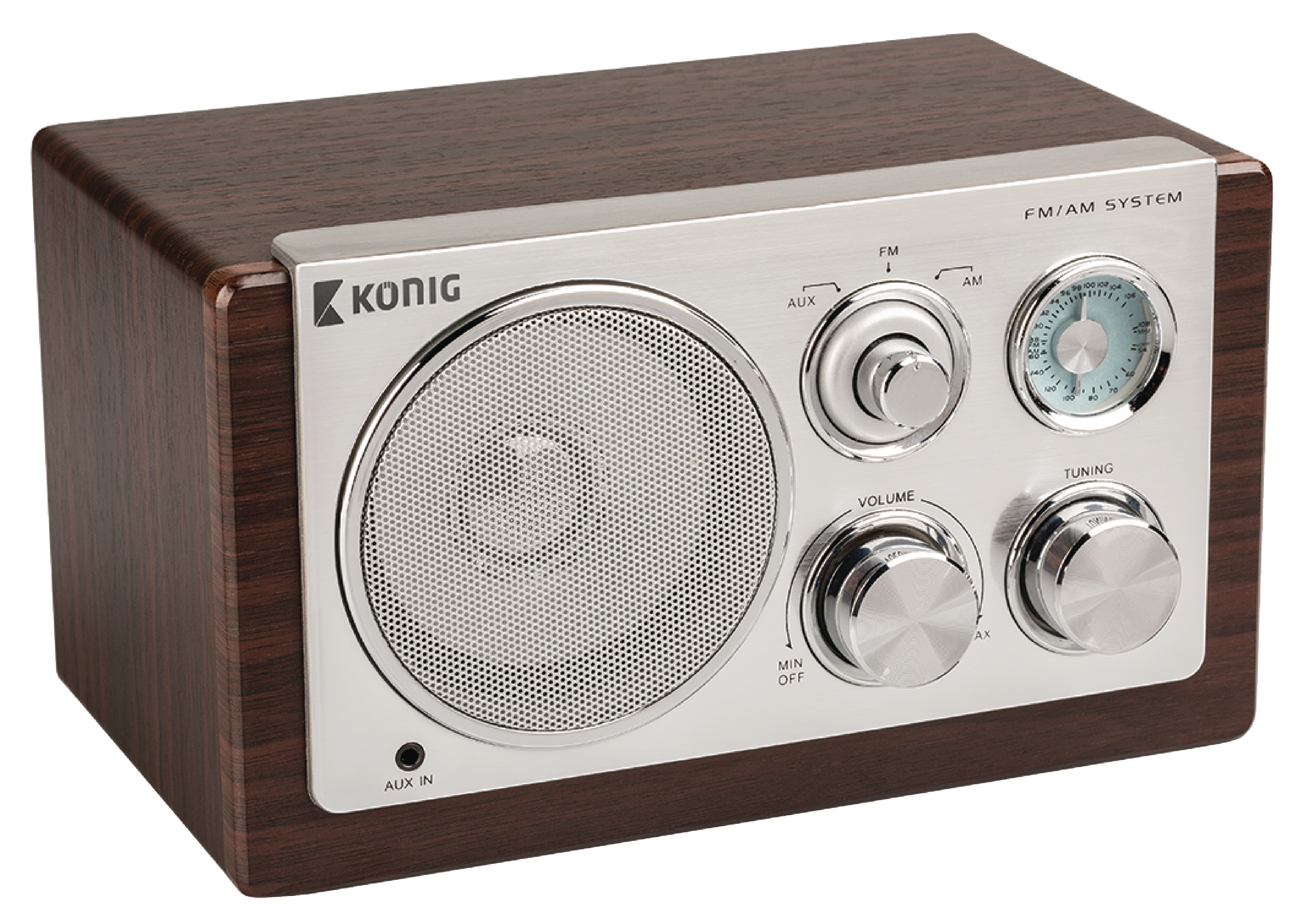 hav tr1000 k nig table radio retro fm am 3 w brown electronic. Black Bedroom Furniture Sets. Home Design Ideas