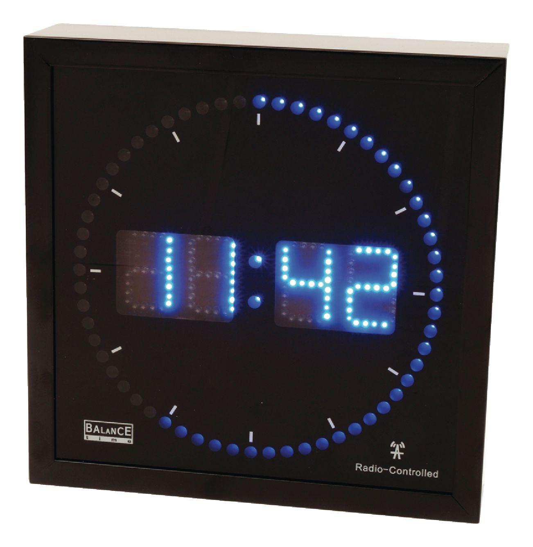 He clock 27 balance wall clock digital black electronic he clock 27 balance wall clock digital black amipublicfo Choice Image