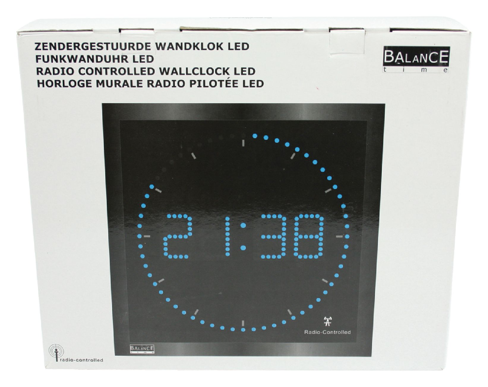 He Clock 27 Balance Wall Clock Digital Black