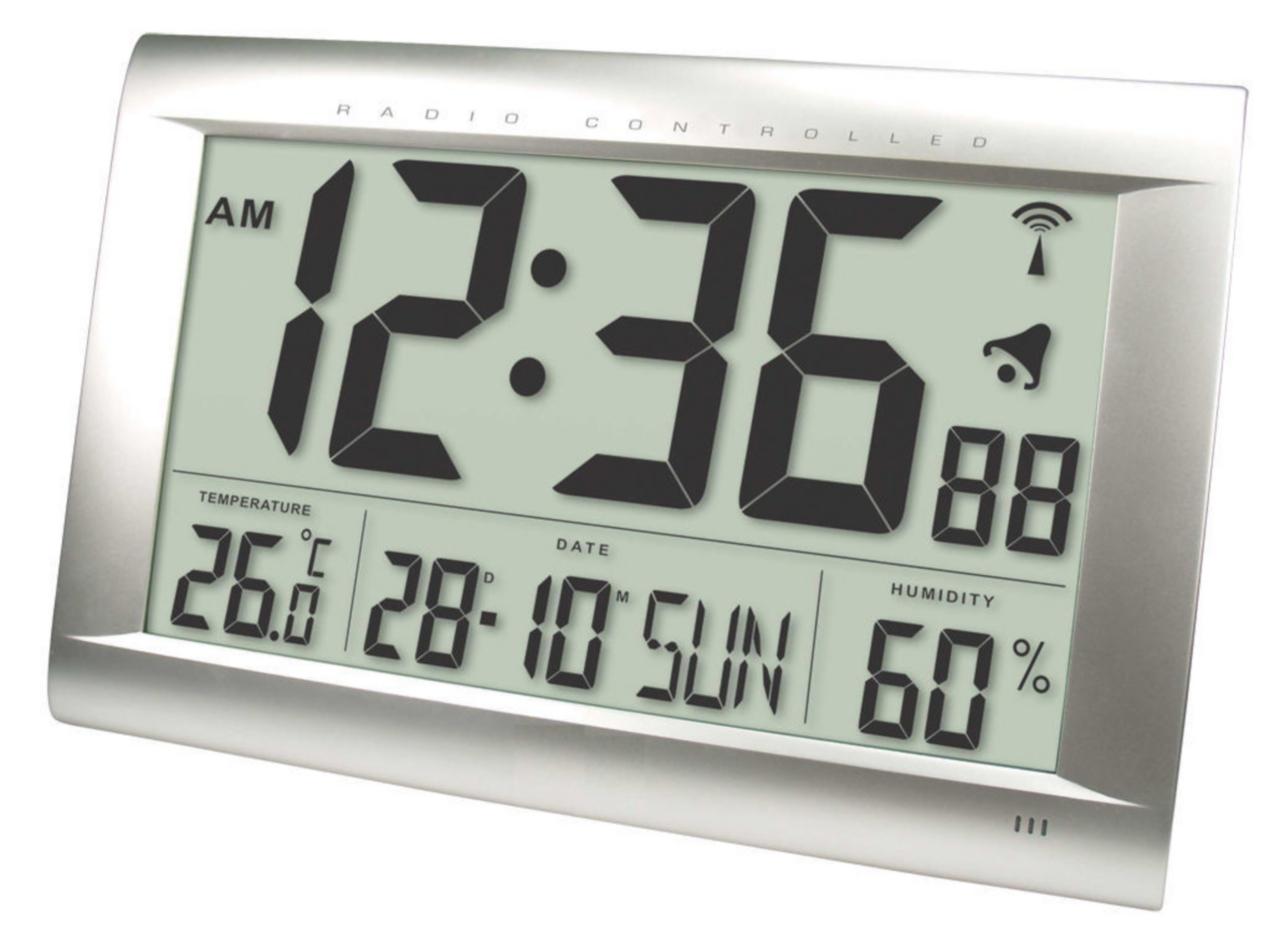 He clock 83 balance radio controlled wall clock digital silver he clock 83 balance radio controlled wall clock digital silver amipublicfo Choice Image