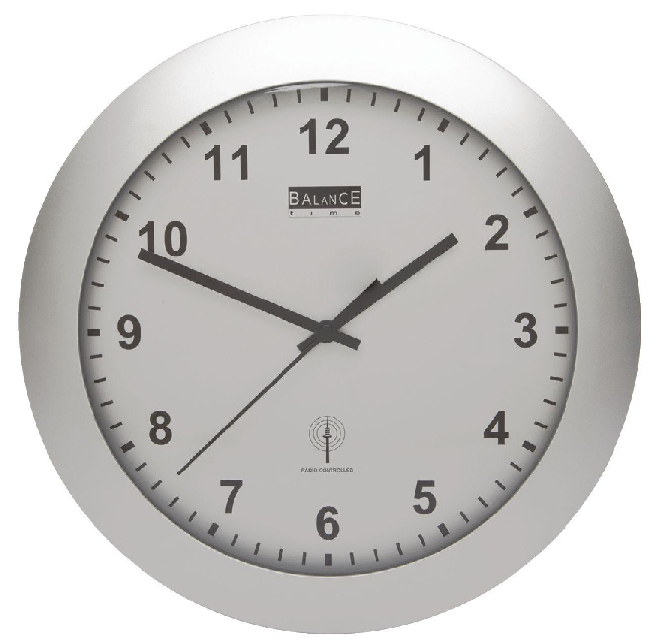 He Clock 88 Balance Radio Controlled Wall Clock 30 Cm