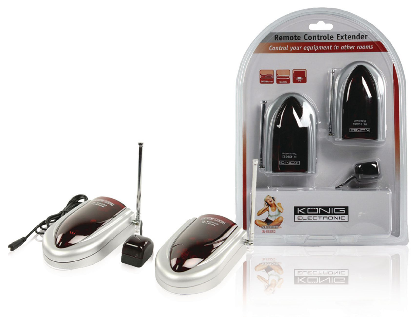 Ir Eggs2 Knig Remote Control Extender 43392 Mhz Range 35 M