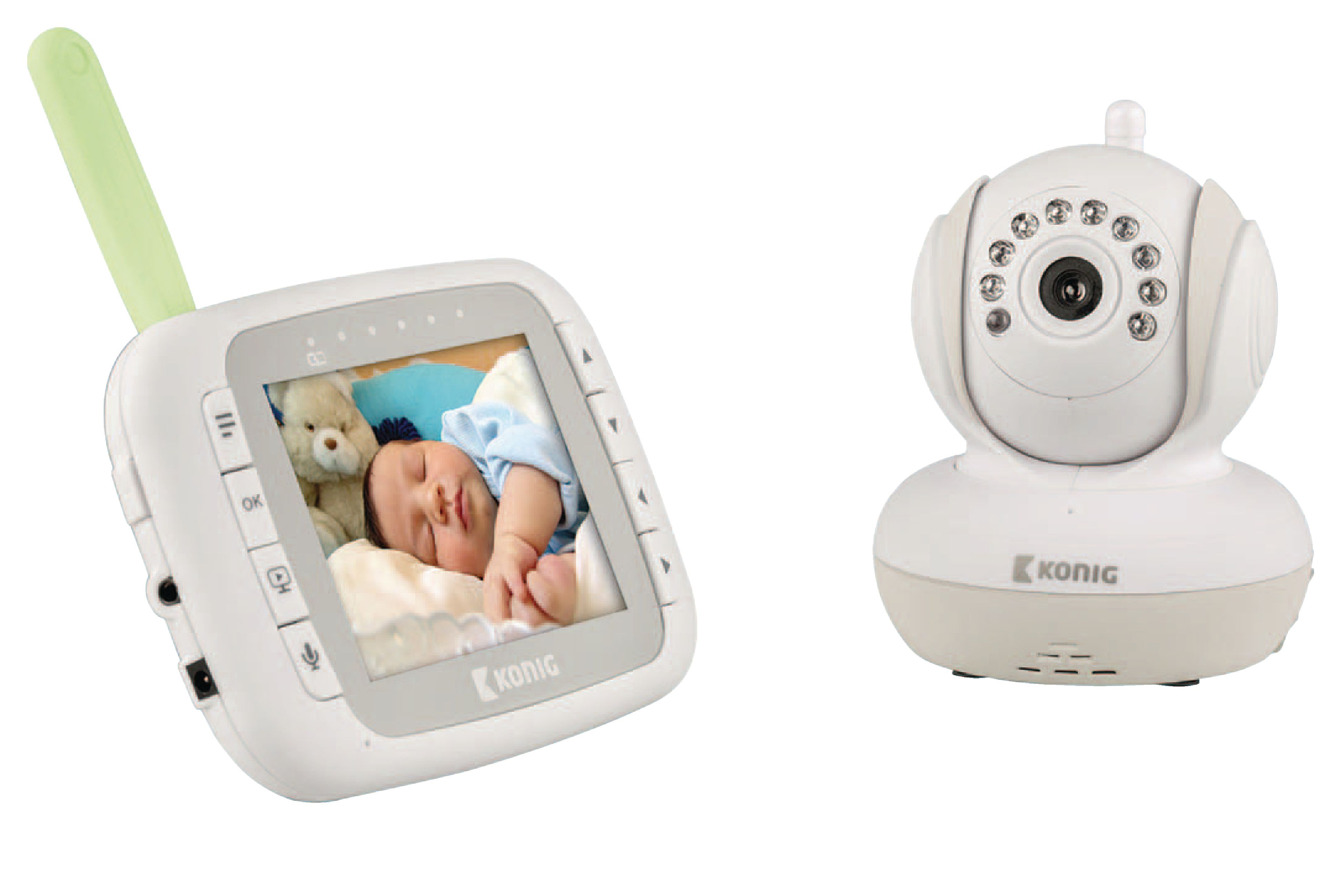kn bm80 k nig baby monitor audio video 2 4 ghz white grey electronic. Black Bedroom Furniture Sets. Home Design Ideas