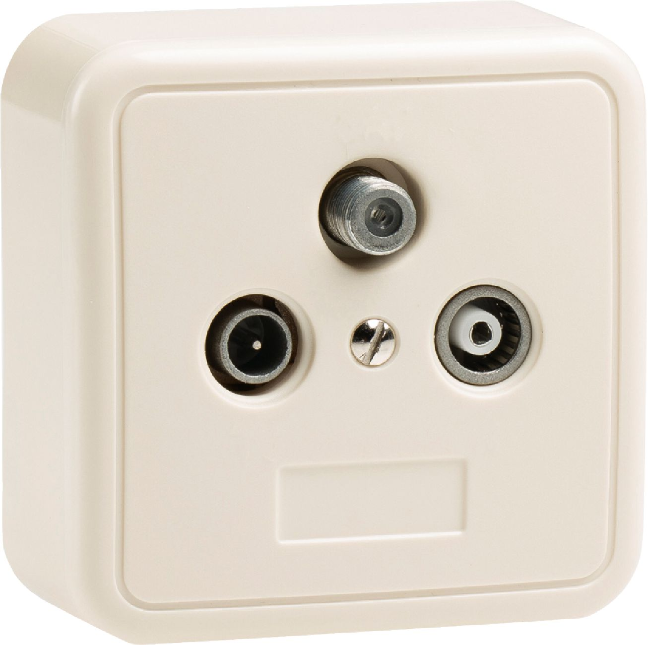 Kn Wallbox3 K 246 Nig Antenna Wall Box End White