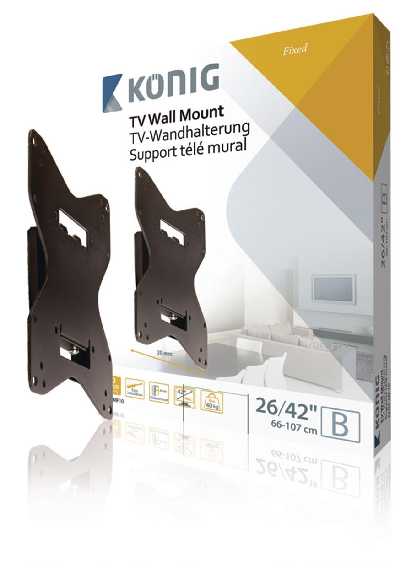 KNM-MF10 - König - TV Wall Mount Fixed 26 - 42