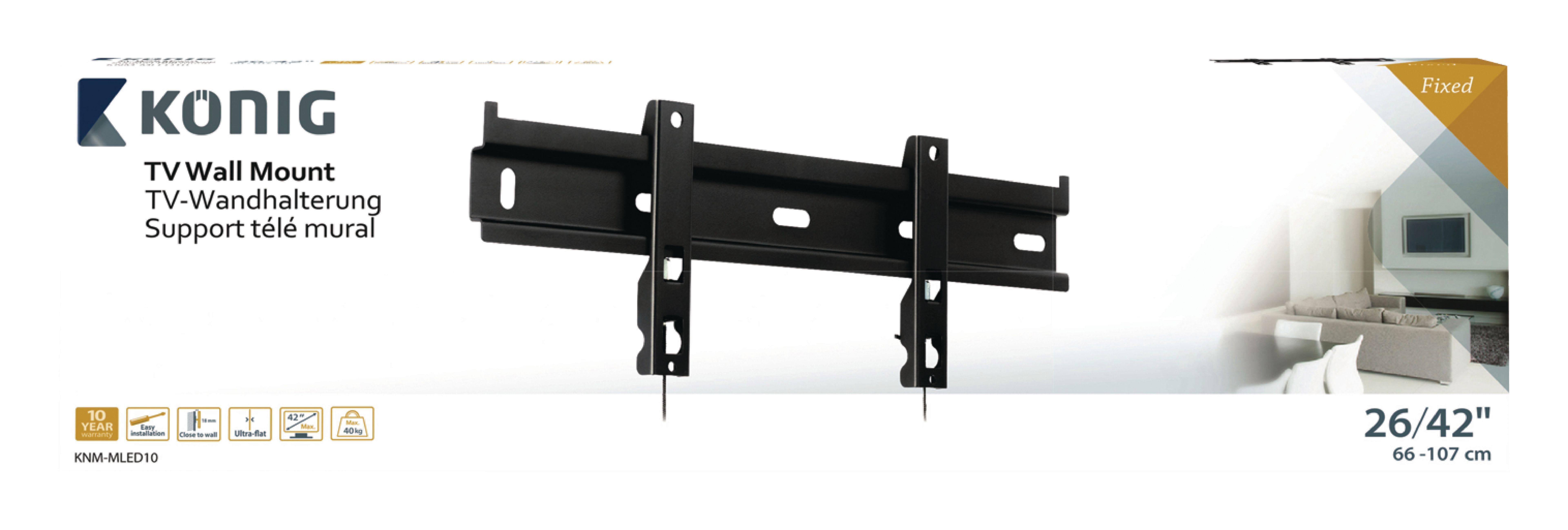KNM-MLED10 - König - TV Wall Mount Fixed 26 - 42