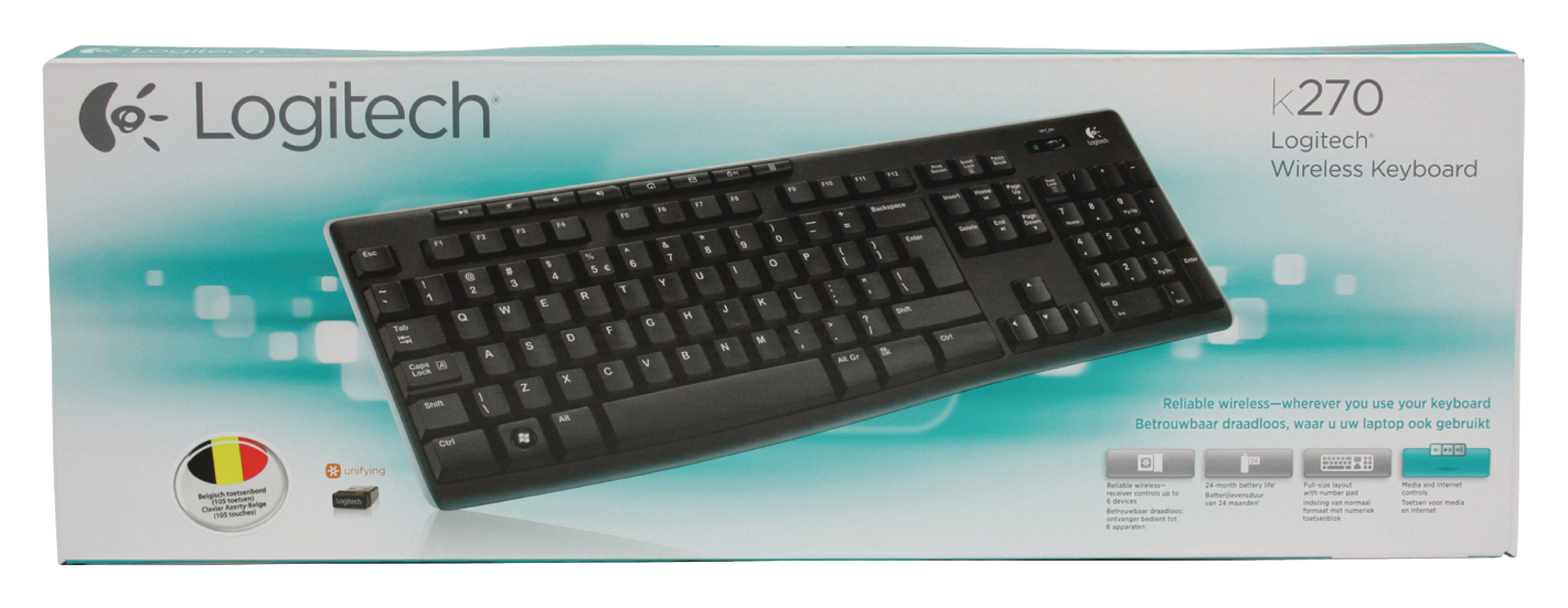 lgt k270 be logitech clavier sans fil standard usb. Black Bedroom Furniture Sets. Home Design Ideas