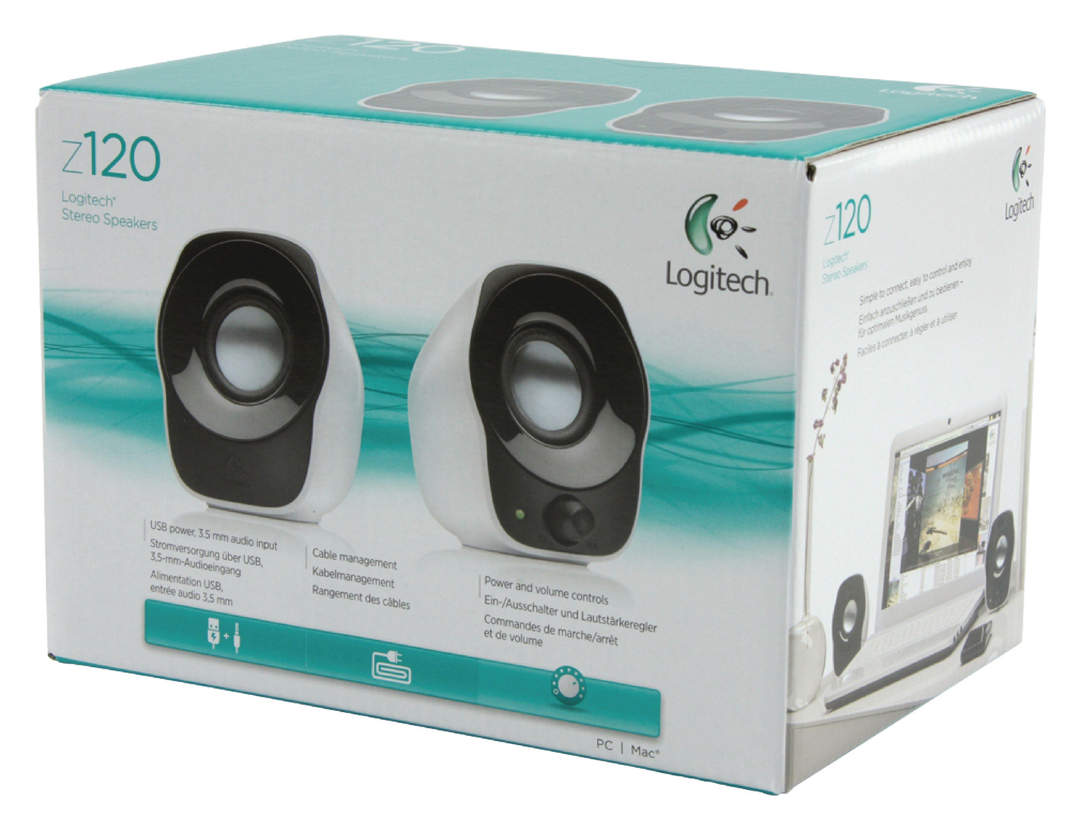 Lgt Z120 Logitech Speaker 20 Wired 35 Mm 12 W Black White Stereo Speakers