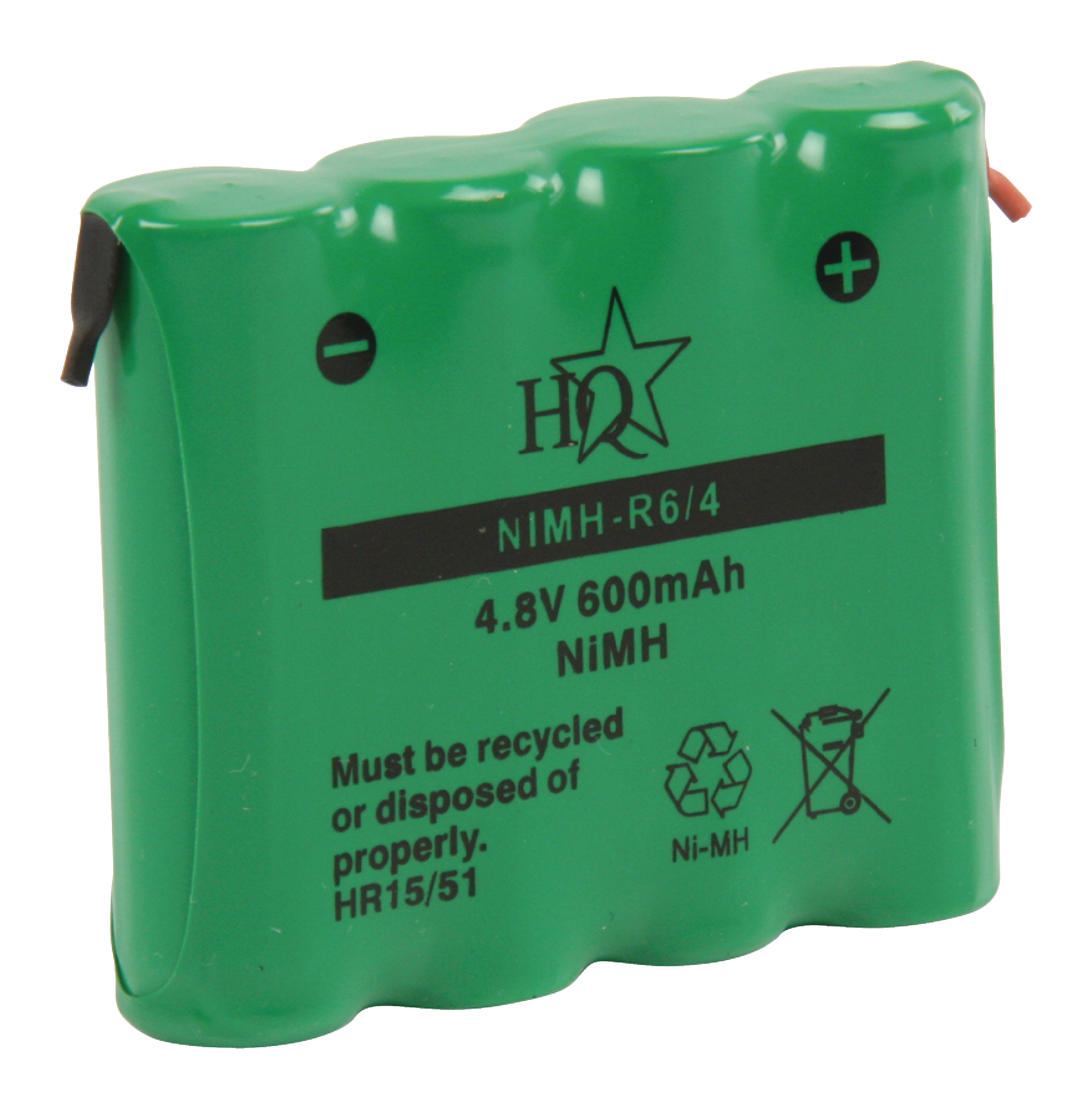 nimh r6 4 hq rechargeable nimh battery pack 4 8 v 600 mah 1 pack electronic. Black Bedroom Furniture Sets. Home Design Ideas