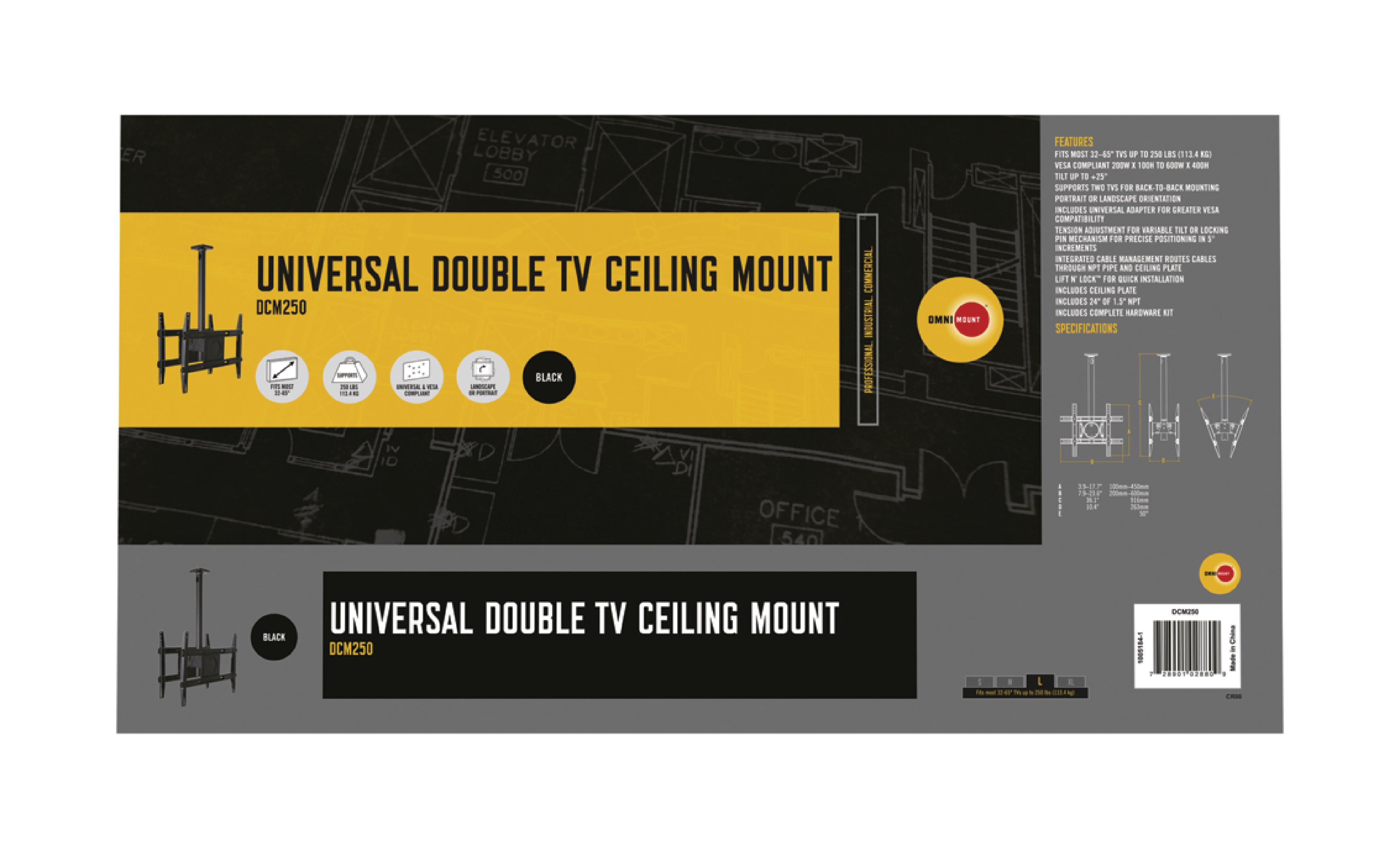 Omn Dcm250 Omnimount Tv Wall Mount Tilt 32 65 Quot 113