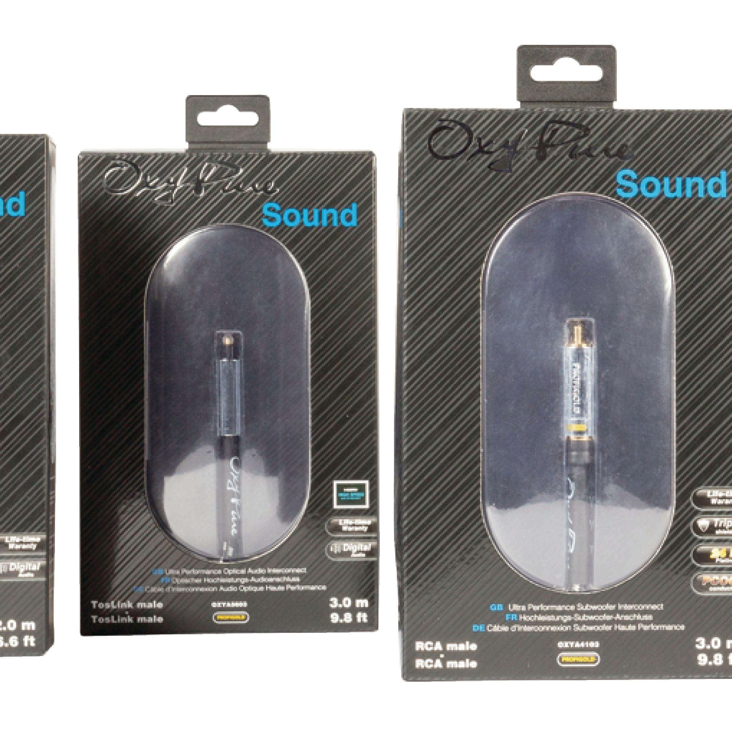 TosLink macho de 3,00 m en color negro Cable de audio /óptico de gama alta TosLink macho