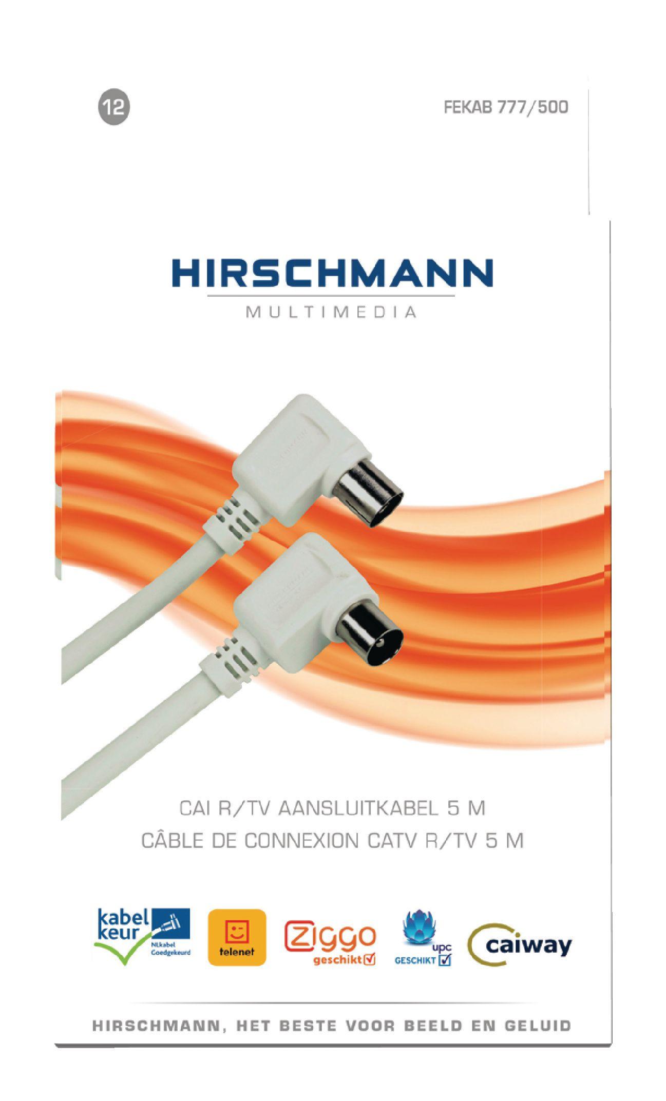rh fkb777 5 0 hirschmann c ble antenne coaxial fekab coax m le iec coax femelle iec 5. Black Bedroom Furniture Sets. Home Design Ideas