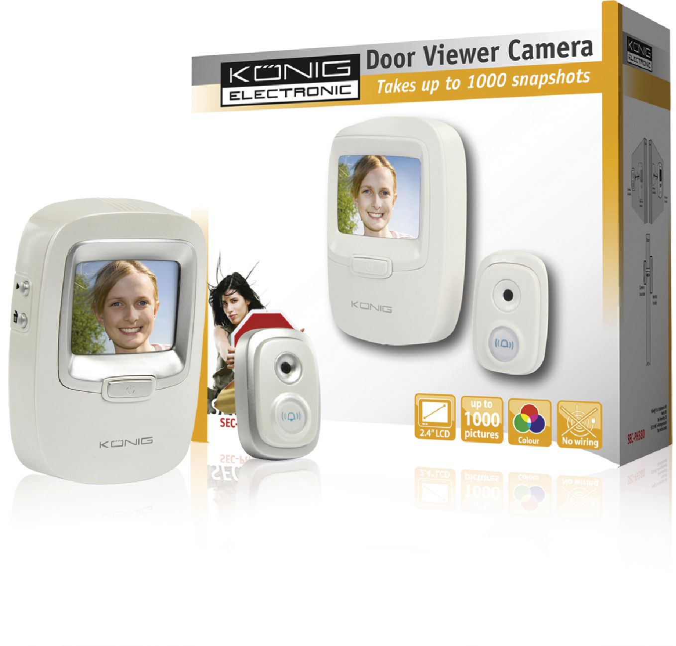 Sec ph380 k nig camera door viewer with snapshot for Door viewer camera