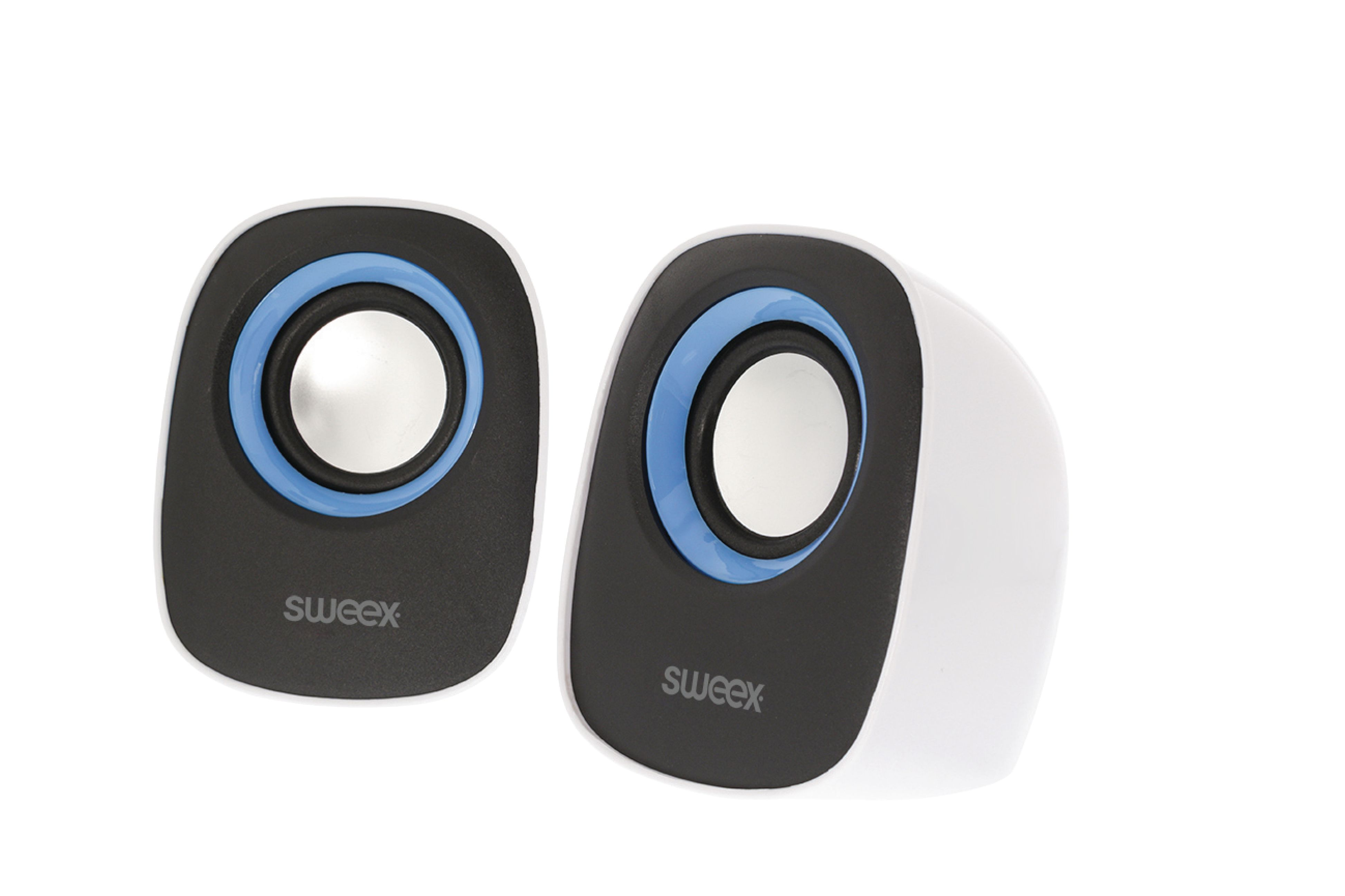 SW20SPS110BU - Sweex - Speaker 2.0 Wired 4 W White/Blue - Electronic ...