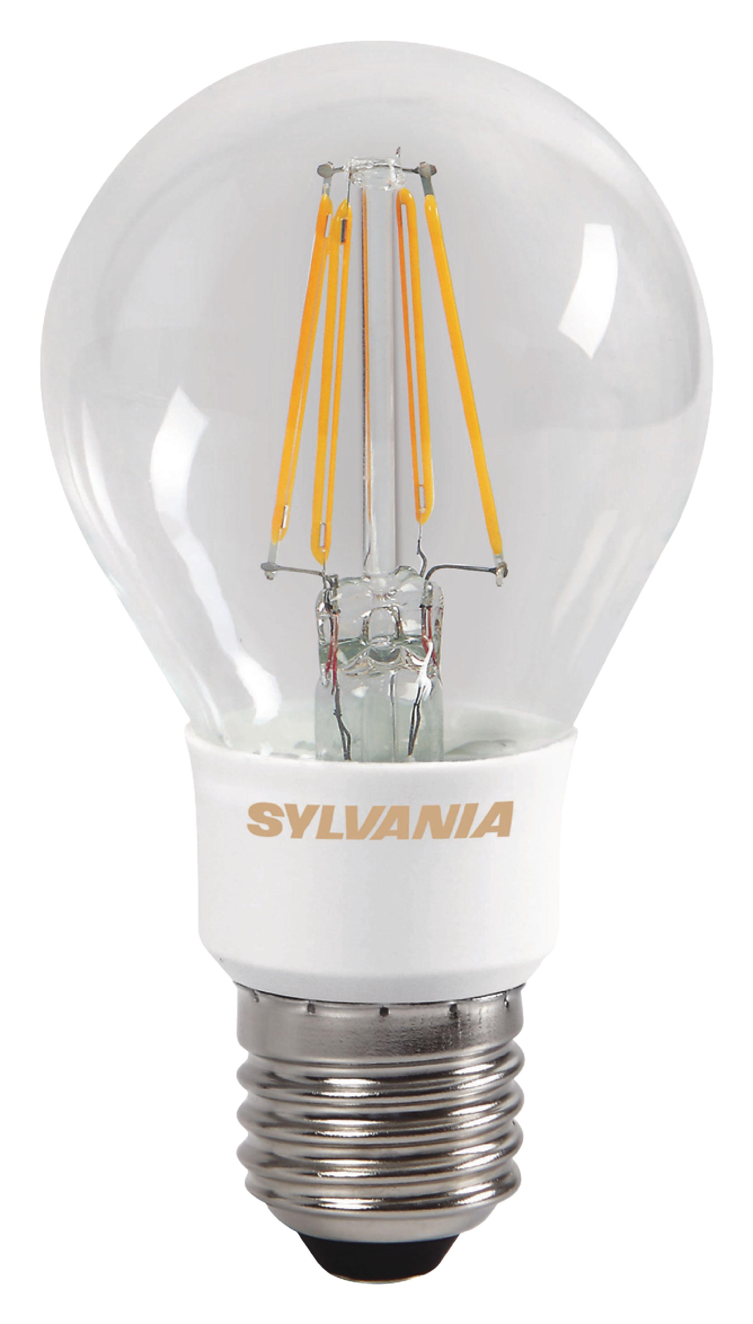 syl 0027125 sylvania led retro filament lamp e27 dimmable gls 5 5 w 640 lm 2700 k. Black Bedroom Furniture Sets. Home Design Ideas