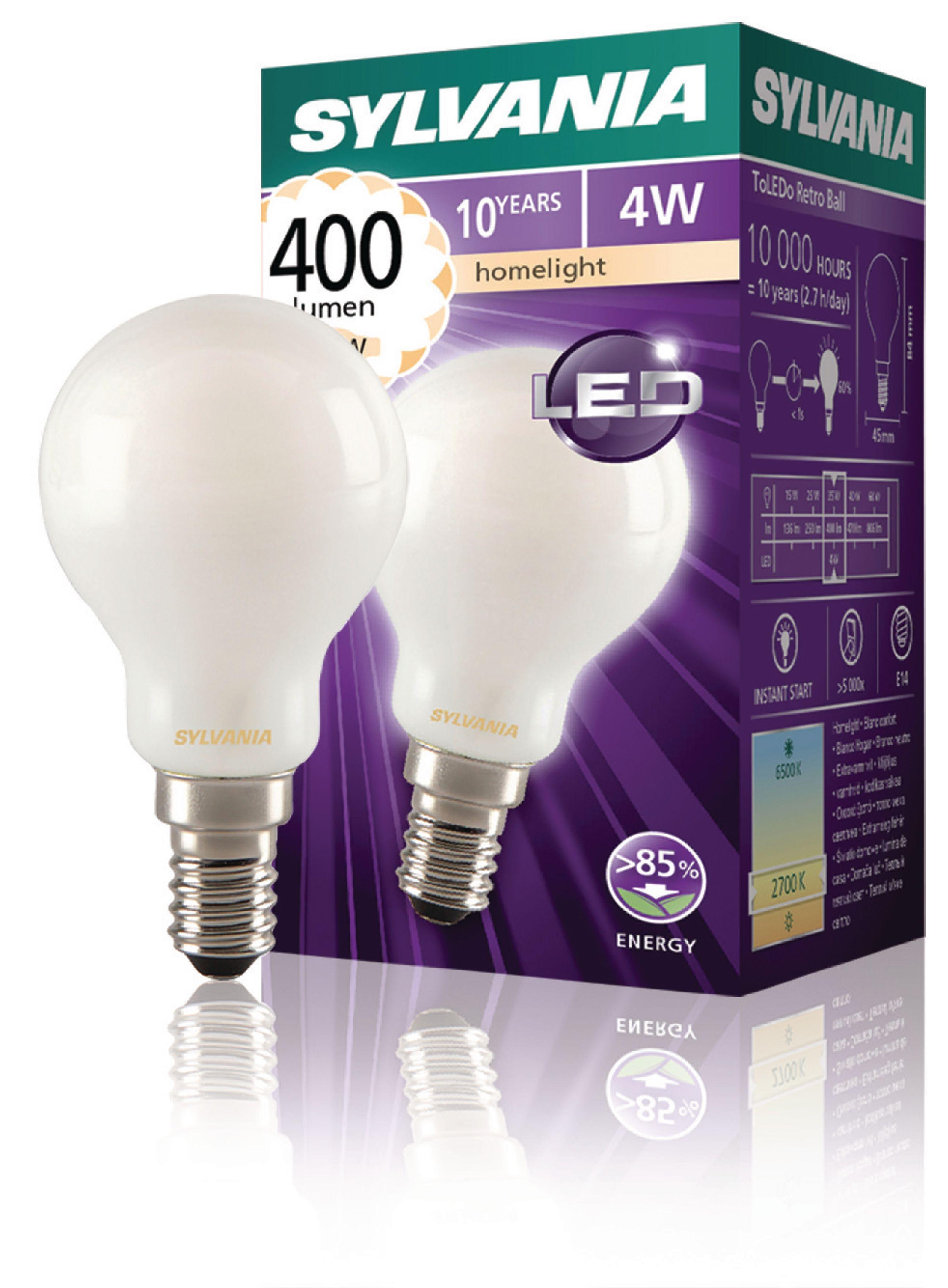 0027257 Lampe Bille Sylvania Filament Rétro Syl Ampoule Led E14 E2H9IWD