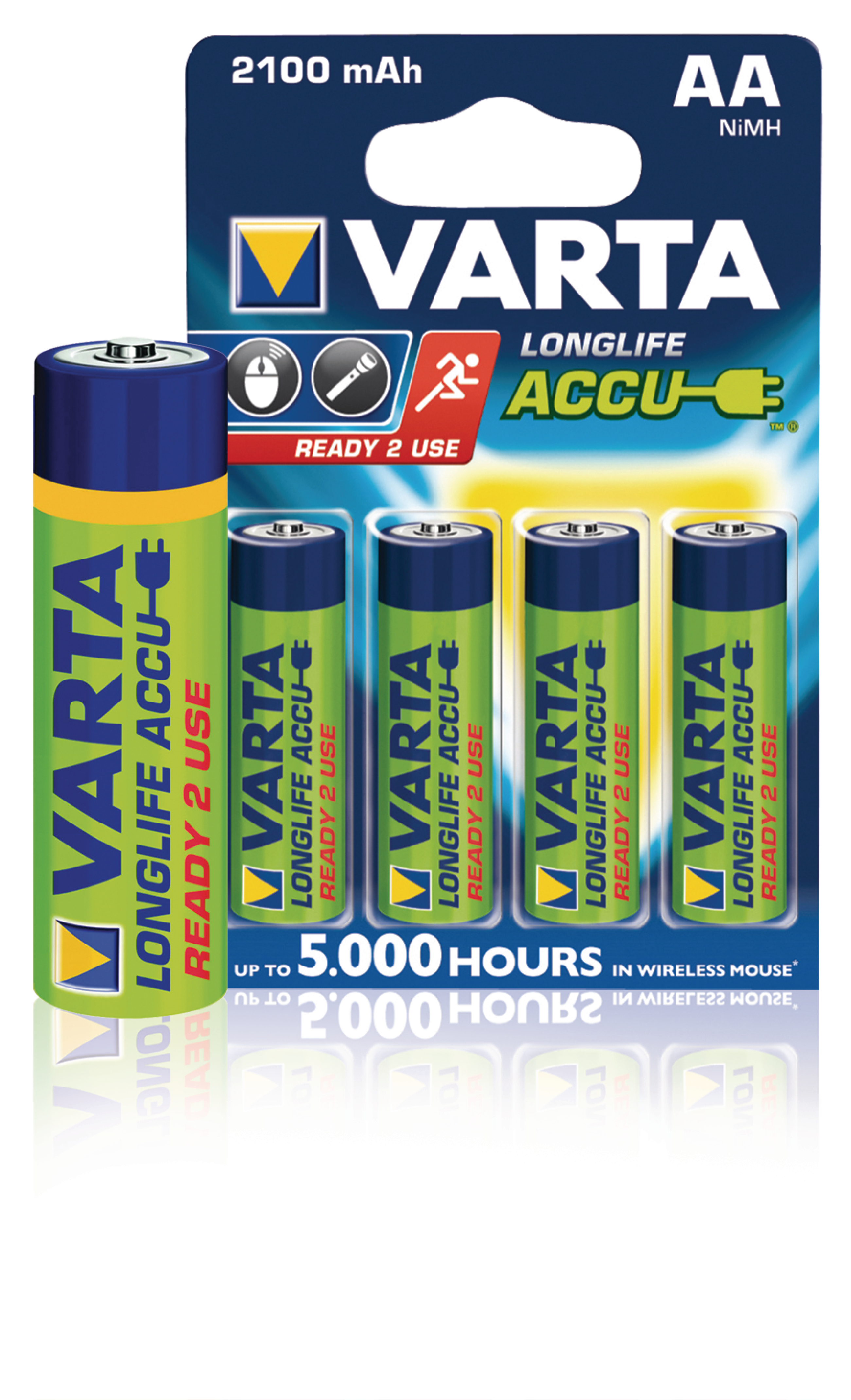 varta 56706b varta rechargeable nimh battery aa 1 2 v. Black Bedroom Furniture Sets. Home Design Ideas