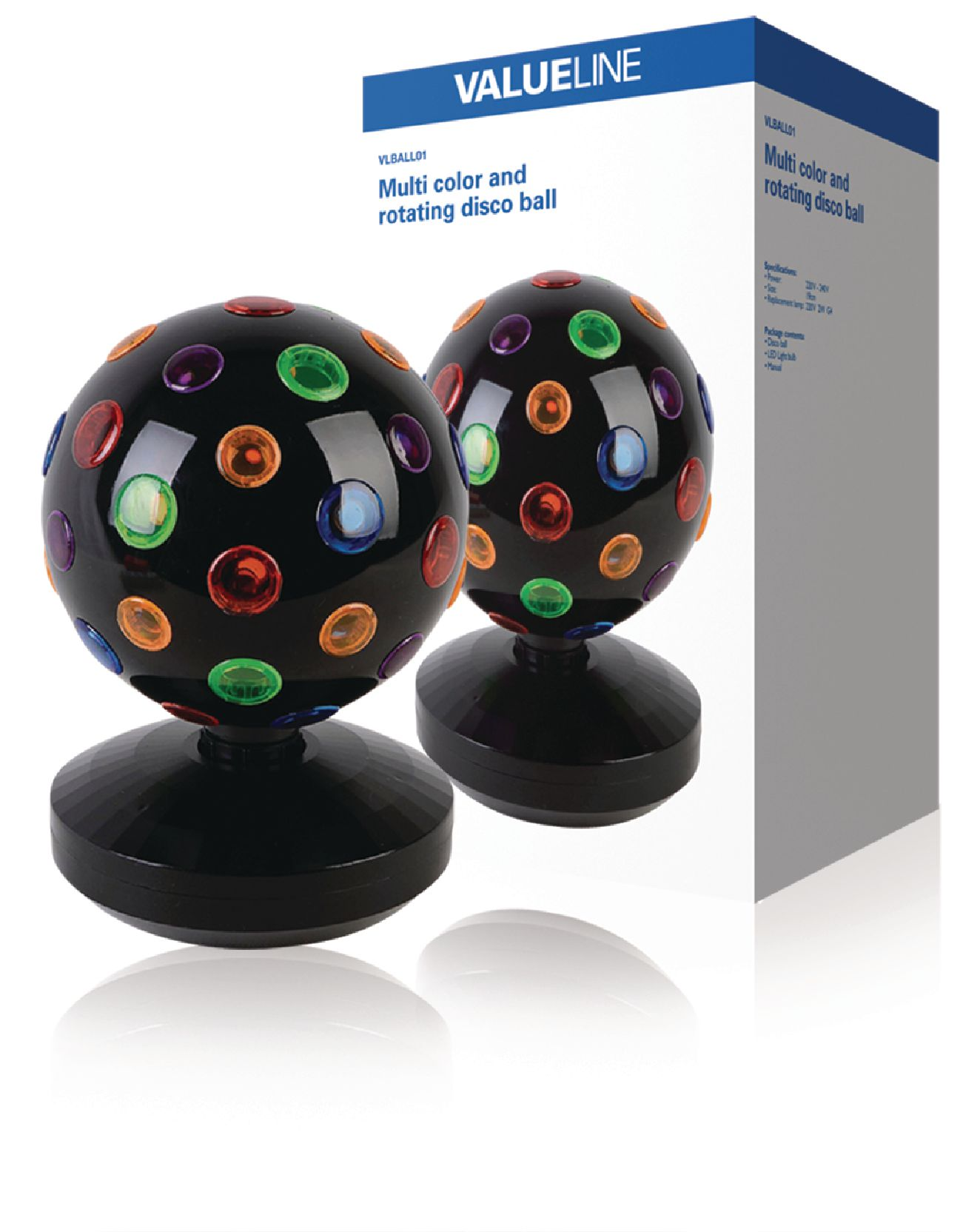 vlball01 valueline boule disco multicolore lampe d 39 ambiance electronic. Black Bedroom Furniture Sets. Home Design Ideas
