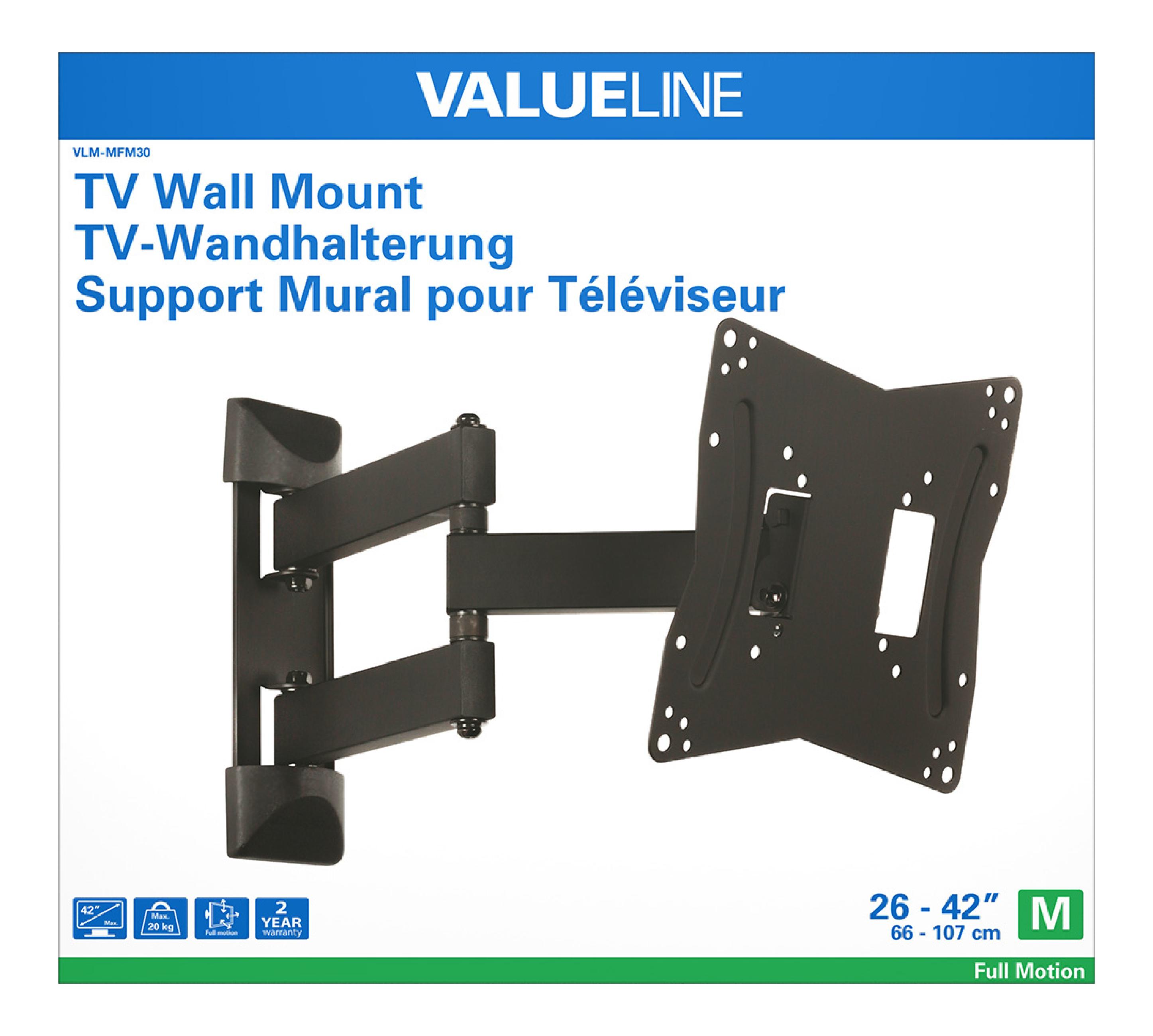 Vlm Mfm30 Valueline Tv Wall Mount Full Motion 26 42