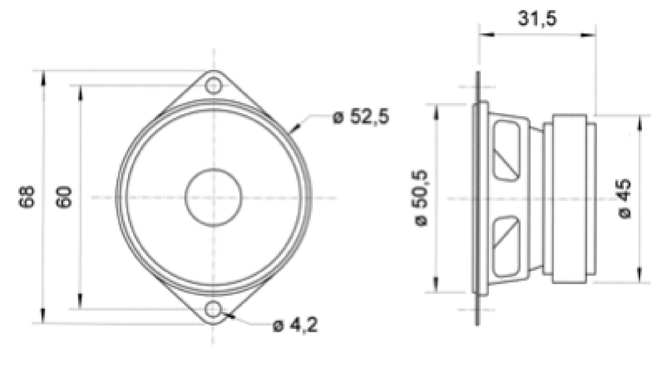 vs-frs5  8 - visaton - full-range speaker 5 cm  2 u0026quot   8 ohm