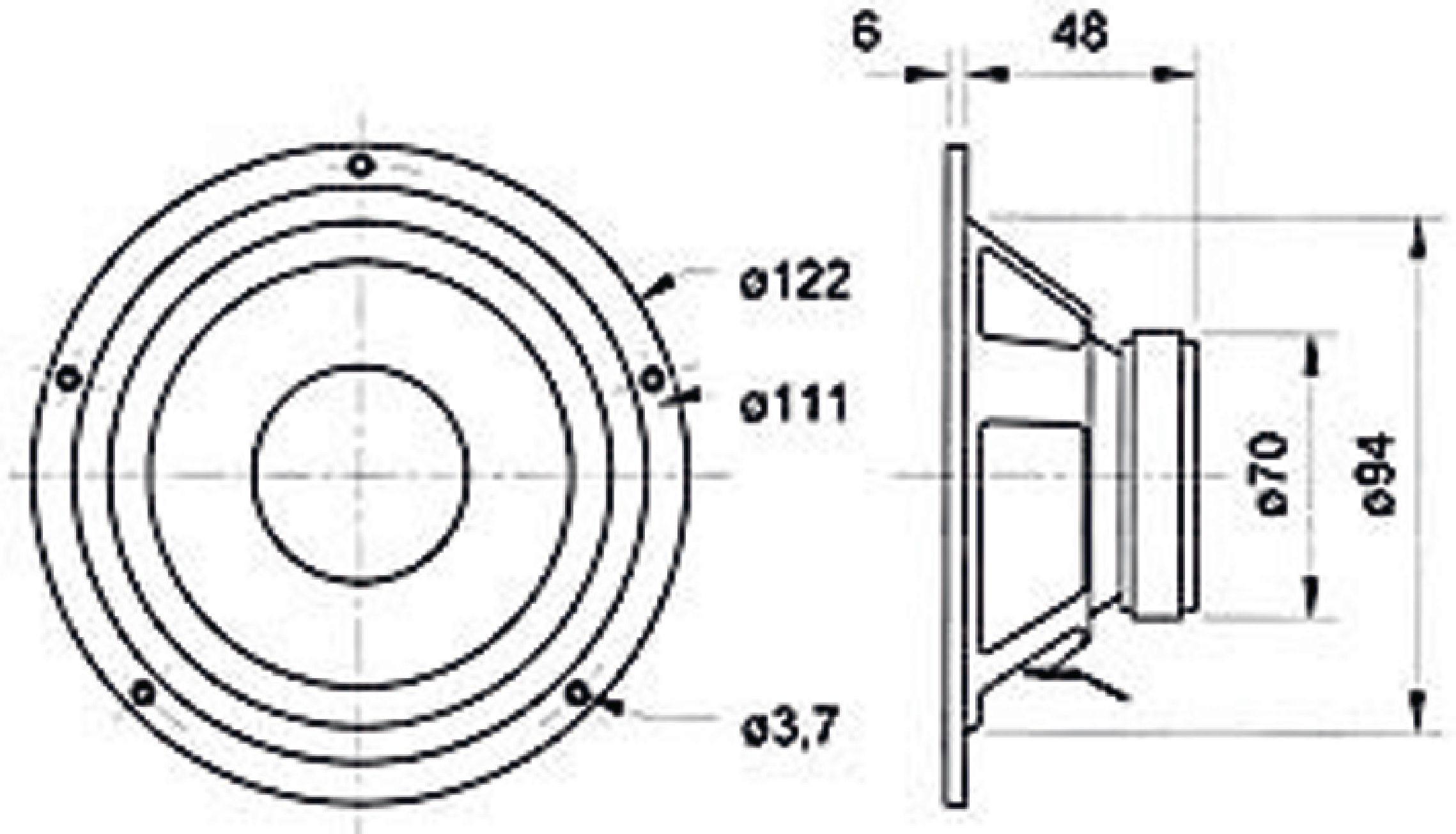 vs-w100s  8 - visaton - midrange speaker 10 cm  4 u0026quot   8 ohm
