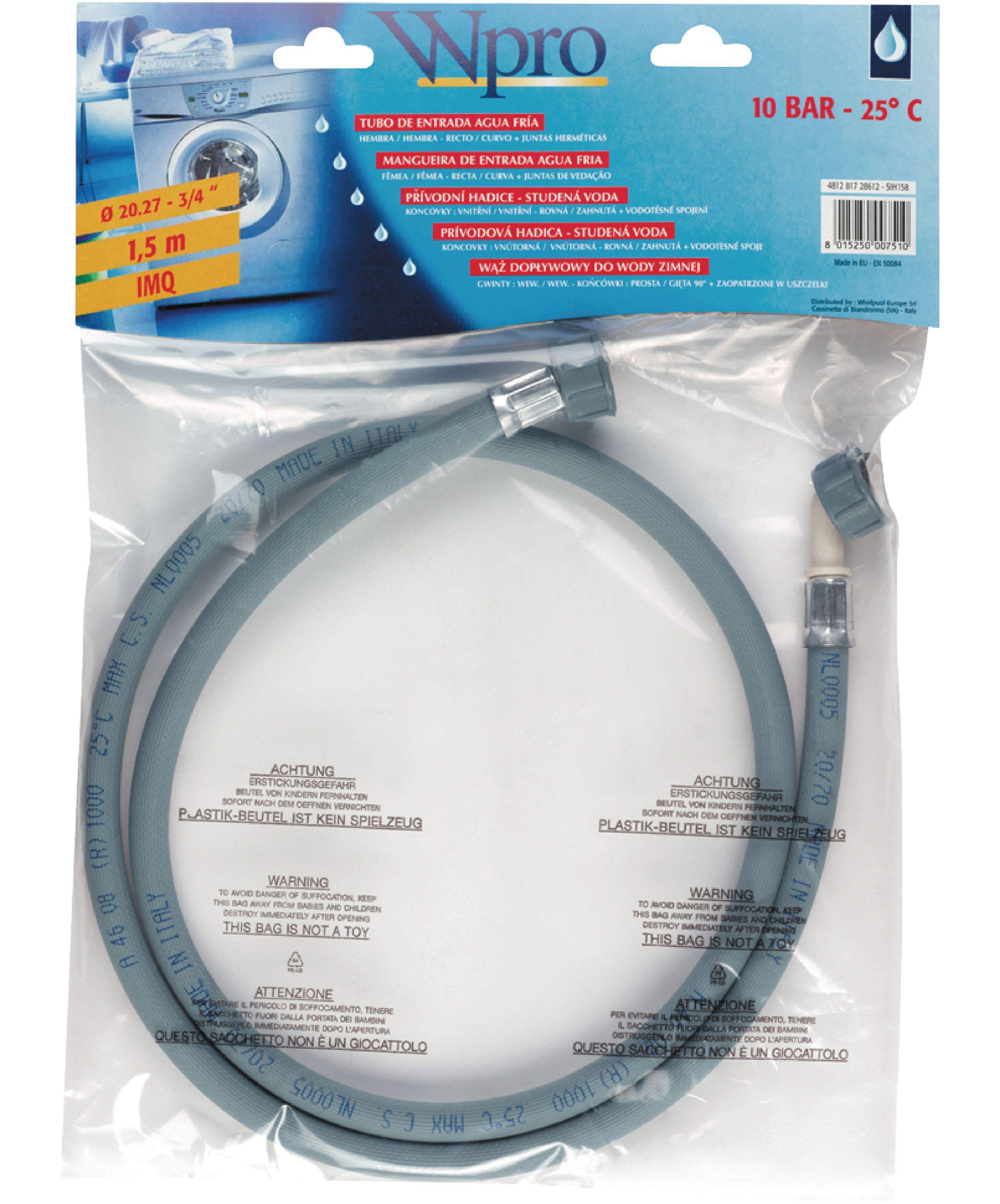 Tubo di carico dell 39 acqua whirlpool lavatrice tubi di for Tubo di scarico del riscaldatore dell acqua