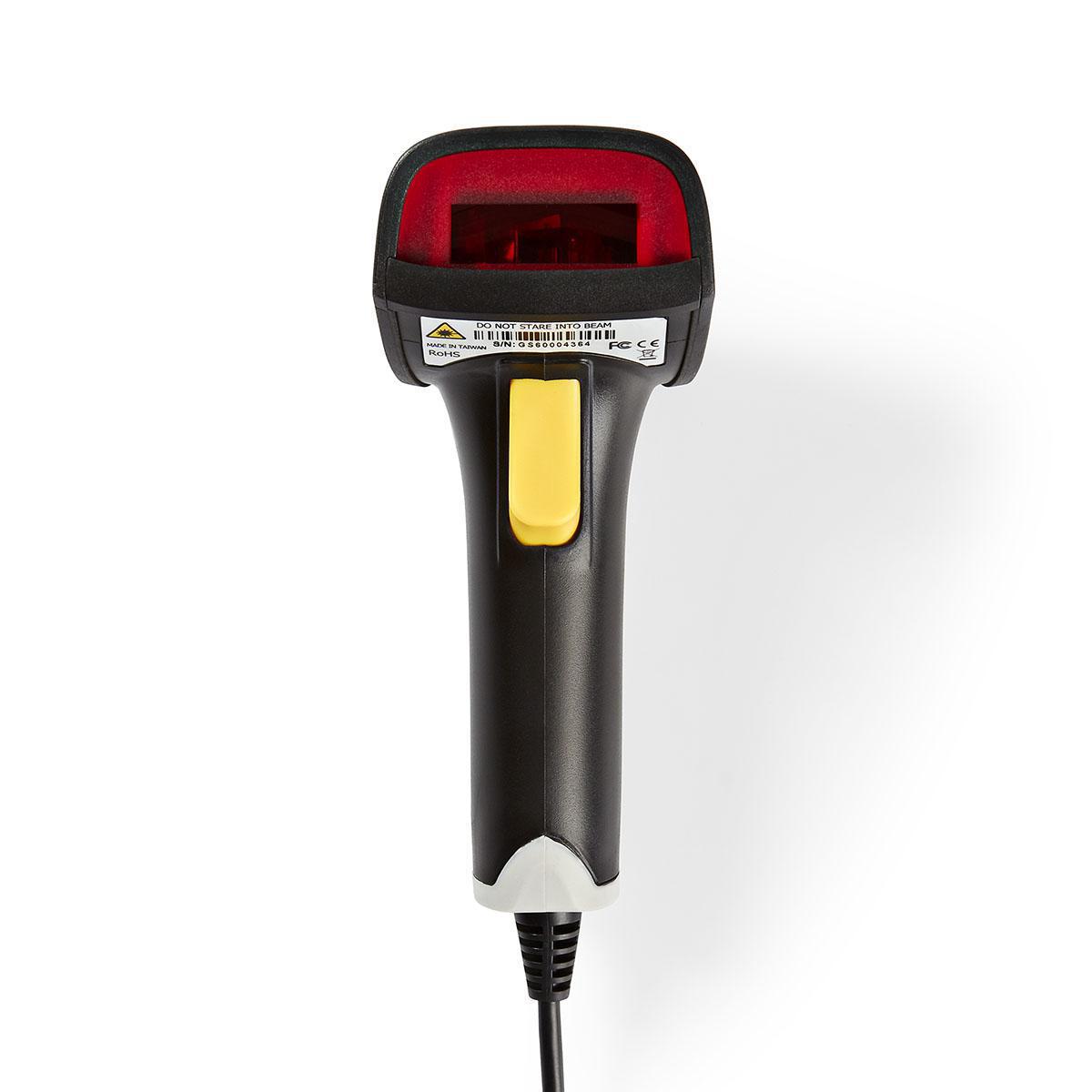 Laser Barcode Scanner | 1D Linear | USB 2 0 | Grey / Black