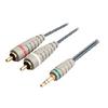 Sztereó Audio Kábel 3.5 mm-es Dugasz - 2x RCA Dugó 2.00 m Kék