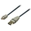 USB 2.0 Kábel USB A Dugó - Micro B Dugasz Kerek 2.00 m Kék