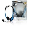 Headset Fülre Illeszkedő 2x 3.5 mm Beépített mikrofon 2.0 m Kék