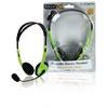 Headset Fülre Illeszkedő 2x 3.5 mm Beépített mikrofon 2.0 m Zöld