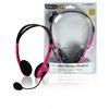 Headset Fülre Illeszkedő 2x 3.5 mm Beépített mikrofon 2.0 m Rózsaszín