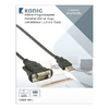 Konverter USB A Dugó - RS232 Fekete