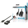 Aktív USB 2.0 Hosszabbító Kábel USB A Dugó - USB A Aljzat 5.00 m Fekete