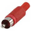 Csatlakozó RCA Dugasz PVC Piros