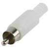 Csatlakozó RCA Dugasz PVC Fehér