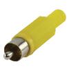 Csatlakozó RCA PVC Sárga