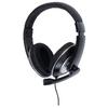Headset Teljes Fület Befedő Kialakítás 2x 3.5 mm Beépített mikrofon Fekete