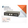 2-Port VGA Kapcsoló Fekete