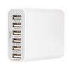 Hálózati Töltő 6-Kimenet 10 A 10 A USB Fehér