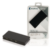 4-Port Elosztó USB 2.0 Hajtású Fekete
