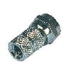 F-Csatlakozó 5.0 mm Dugasz Fém Ezüst