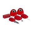 Vezetékes Egér Hordozható 3 Gombos Piros