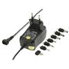 Univerzális Hálózati Adapter 3 / 4.5 / 5 / 6 / 7.5 / 9 / 12 VDC 0.6 A Fekete
