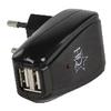 Hálózati Töltő 2-Kimenet 1.0 A 1.0 A USB Fekete