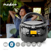 Magnó | 9 W | Bluetooth® | CD-lejátszó/FM-rádió/USB/Aux | Fekete
